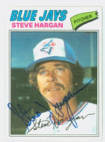 Steve Hargan AUTOGRAPH 1977 Topps #37 Blue Jays 