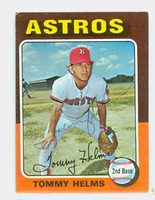 Tommy Helms AUTOGRAPH 1975 Topps Mini #119 Astros 