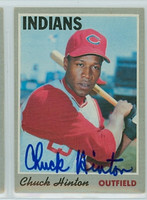 Chuck Hinton AUTOGRAPH d.13 1970 Topps #27 Indians 