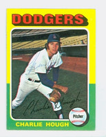 Charlie Hough AUTOGRAPH 1975 Topps Mini #57 Dodgers 