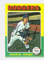 Charlie Hough AUTOGRAPH 1975 Topps #71 Dodgers 