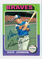 Dave Johnson AUTOGRAPH 1975 Topps #57 Braves 