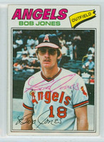 Bob Jones AUTOGRAPH 1977 Topps #16 Angels 