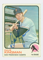 Dave Kingman AUTOGRAPH 1973 Topps #23 Giants 