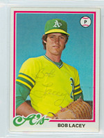 Bob Lacey AUTOGRAPH 1978 Topps #29 Athletics 