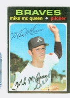 Mike McQueen AUTOGRAPH 1971 Topps #8 Braves 