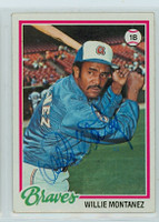 Willie Montanez AUTOGRAPH 1978 Topps #38 Braves 