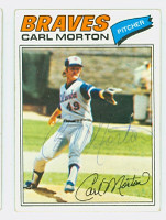 Carl Morton AUTOGRAPH d.83 1977 Topps #24 Braves 
