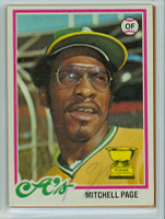 Mitchell Page AUTOGRAPH d.11 1978 Topps #55 Athletics 