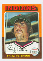 Fritz Peterson AUTOGRAPH 1975 Topps #62 Indians 