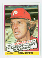 Ron Reed AUTOGRAPH 1976 Topps #58 Phillies TRADED   [SKU:ReedR1618_T76BBTR]