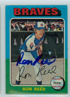 Ron Reed AUTOGRAPH 1975 Topps #81 Braves 