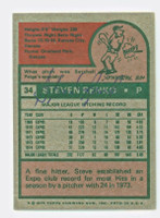 Steve Renko AUTOGRAPH 1975 Topps #34 Expos BACK SIGNED