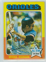 Brooks Robinson AUTOGRAPH 1975 Topps #50 Orioles CARD IS VG