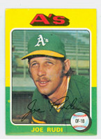 Joe Rudi AUTOGRAPH 1975 Topps #45 Athletics 
