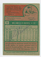 Bill Russell 1975 Topps #23 Dodgers Back Signed 