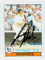 Fred Stanley AUTOGRAPH 1979 Topps #16 Yankees   [SKU:StanF1002_T79BB]
