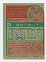 Steve Swisher AUTOGRAPH 1975 Topps #63 Cubs BACK SIGNED