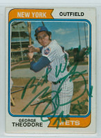 George Theodore AUTOGRAPH 1974 Topps #8 Mets 