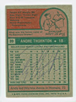 Andre Thornton AUTOGRAPH 1975 Topps #39 Cubs BACK SIGNED