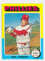 Del Unser AUTOGRAPH 1975 Topps #138 Phillies   [SKU:UnseD1576_T75BB]