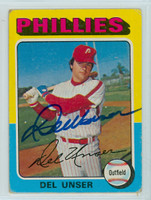 Del Unser AUTOGRAPH 1975 Topps #138 Phillies   [SKU:UnseD1576_T75BBpl]