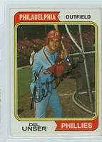 Del Unser AUTOGRAPH 1974 Topps #69 Phillies 