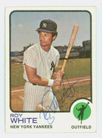 Roy White AUTOGRAPH 1973 Topps #25 Yankees 