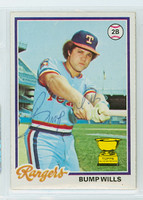 Bump Wills AUTOGRAPH 1978 Topps #23 Rangers 