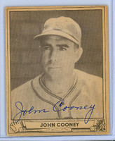 Johnny Cooney AUTOGRAPH d.86 Braves 1940 Play Ball 