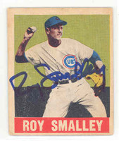 Roy Smalley AUTOGRAPH d.11 Cubs 1948 Leaf 