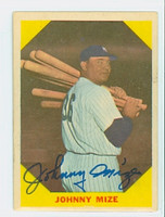 Johnny Mize AUTOGRAPH d.93 1960 Fleer Baseball Greats 