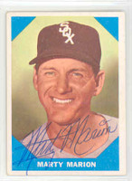 Marty Marion AUTOGRAPH 1960 Fleer Baseball Greats 
