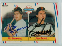 John Burkett DUAL SIGNED 1988 Fleer Major League Prospects Giants 