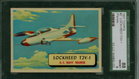 1957 Planes 2 Lockheed T2V-1 SGC88 Near-Mint to Mint RED