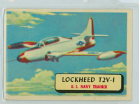 1957 Planes 2 Lockheed T2V-1 Very Good RED