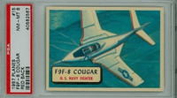 1957 Planes 15 F9F-8 Cougar PSA 8 Near Mint to Mint RED