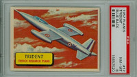 1957 Planes 17 Trident PSA 8 Near Mint to Mint BLUE