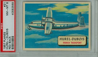 1957 Planes 21 Hurel-Dubois PSA 8 Near Mint to Mint RED