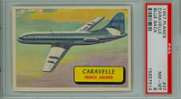 1957 Planes 37 Caravelle PSA 8 Near Mint to Mint BLUE
