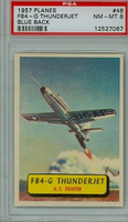1957 Planes 46 F-84 Thunderjet PSA 8 Near Mint to Mint BLUE