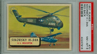 1957 Planes 70 Sikorsky H-34 A PSA 8 Near Mint to Mint RED