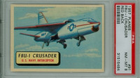 1957 Planes 91 F8U-1 Crusader PSA 8 Near Mint to Mint RED