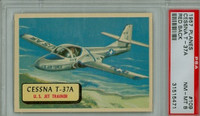 1957 Planes 109 Cessna T-37A PSA 8 Near Mint to Mint RED