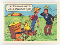 1957 Goofy Postcards 18 Lay Scrambled Eggs Excellent to Mint