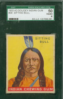 1933 Indian Gum 38 Sitting Bull SGC50 Very Good to Excellent Series 96