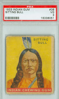 1933 Indian Gum 38 Sitting Bull PSA 3 Very Good Series 192