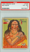 1933 Indian Gum 100 Red Bear PSA 4 Very Good to Excellent