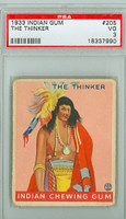 1933 Indian Gum 205 The Thinker PSA 3 Very Good