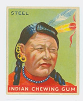 1947 Goudey Indians 73 Steel Excellent